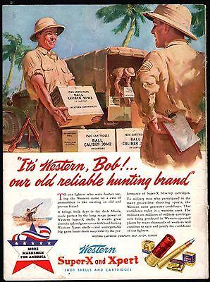1944 Western Super X Shotgun Shells Ammunition Walt Otto Art Vtg Print Ad At Any Cost Merchandise & Memorabilia Advertising