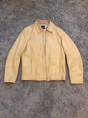 Hugo Boss Mens Leather Jacket, Lovely Soft Goatskin