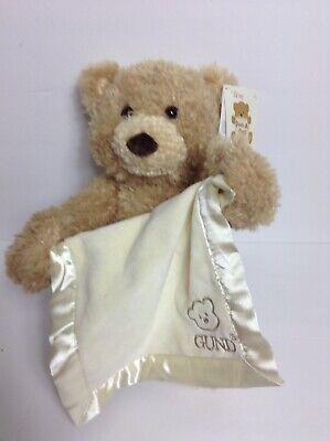 Gund Baby Peek-A-Boo Animated Talking Tan Teddy Bear Blanket