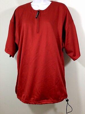 Easton Vent - Easton Mens Medium Vented Short Sleeve Shirt 1/4 Zip Red Adjustable Bottom