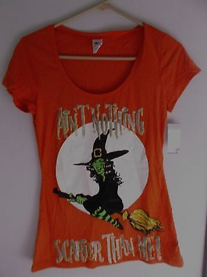 HALLOWEEN T SHIRT JR SIZE SMALL AIN'T NOTHING SCARIER THAN ME WITCH - Scarier Than Halloween