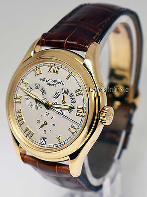 Patek Philippe 5035 Annual Calendar 18K Gold Mens Watch Papers/Deployant 5035J