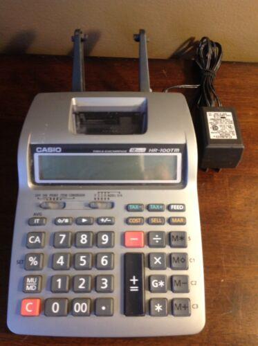 Casio HR-100TM Tax & Exchange Printing Calculator