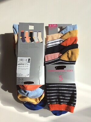 Cotton Soft Top Socken (M&S Ladies Cotton Rich ankle socks Size 3-5 Soft Touch Gentle Top Pack Of 5)
