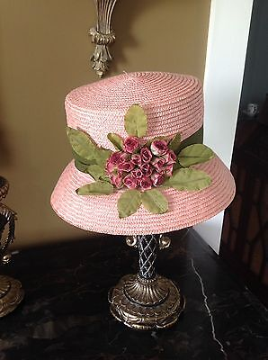 Vintage Lord And Taylor Ladies Straw Hat With Tags!