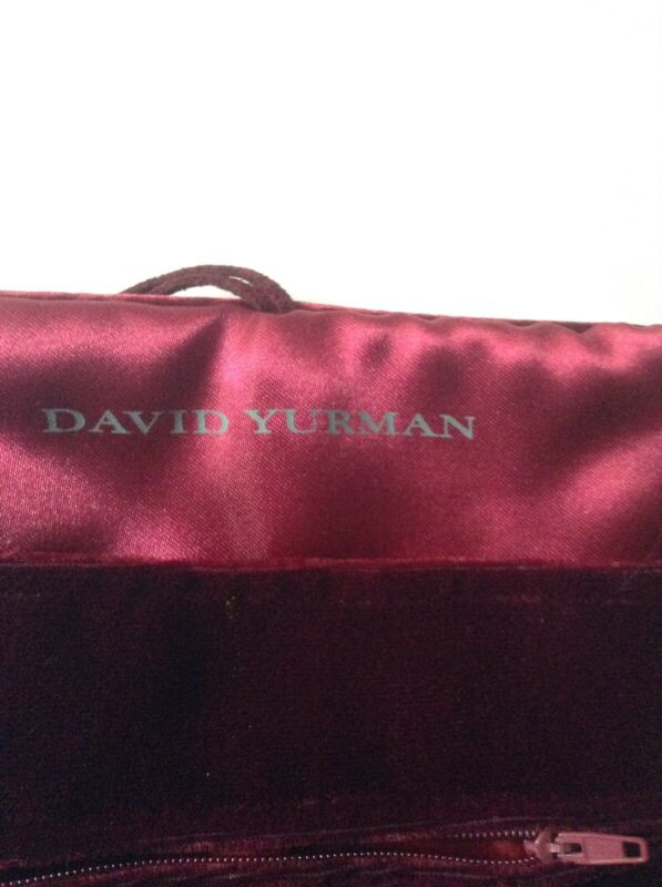 DAVID YURMAN JEWELRY ROLL EXCLUSIVE BURGUNDY VELVET GREAT FOR HOME/TRAVEL