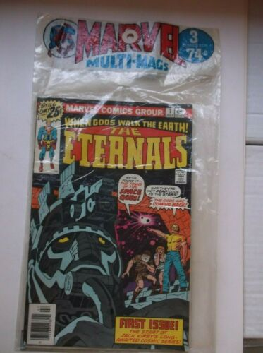 MARVEL MULTI MAGS 3 PACK SET, ETERNALS #1 + MORE, UNOPENED, HIGH GRADES!!!
