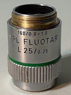 Leitz Npl Fluotar L 250.35 1600.6-1.6 25x Lwd Microscope Objective