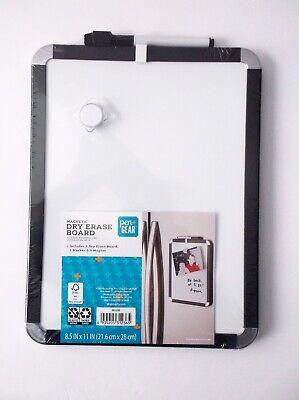 Pengear 8.5 X 11 Magnetic Dry Erase Board - Black Trim