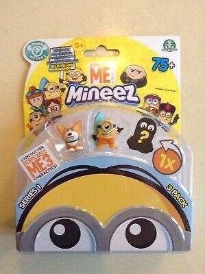 Despicable Me: Mineez - Minions 3-pack (Yard Dog, Surf & mystery) - BNIB ()