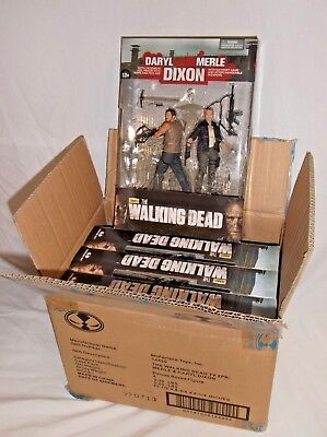 WALKING DEAD McFarlane AMC DARYL DIXON & MERLE 2 pack CASE Action Figure Box Set
