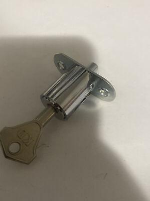 Lock America B620f High Security Abloy Style Push In Drawer Plunger Lock W1 Key