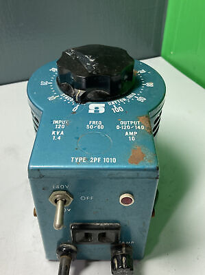 Staco Variable Autotransformer 0-120140v Output Type 2pf 1010