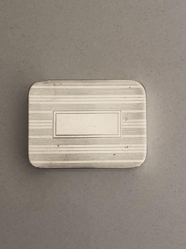 Art Deco R. Blackinton Sterling Silver / 925 Two Slot Pill Case NO MONOGRAM