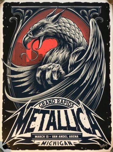 Metallica Van Andel Arena Grand Rapids Michigan Poster LE 70