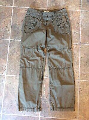 Womens Ann Taylor Loft Petites Lightweight Pants, Size 4P 4 P, Khaki Green