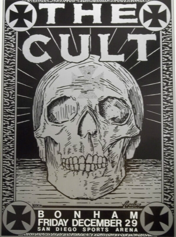 The Cult Original Concert 19x14 Poster Bonham San Diego Sports Arena CA 12/29/89