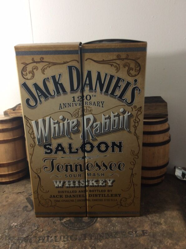 Jack Daniels Discontinued White Rabbit Saloon Decanter Gift Boxes Only 750ml Set