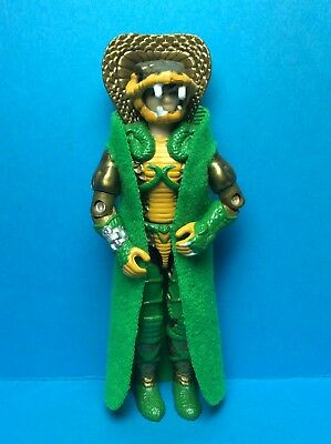 VINTAGE G.I. JOE HASBRO ACCESSORY-SERPENTOR V1 (1986) EMERALD GREEN REPRO CAPE..