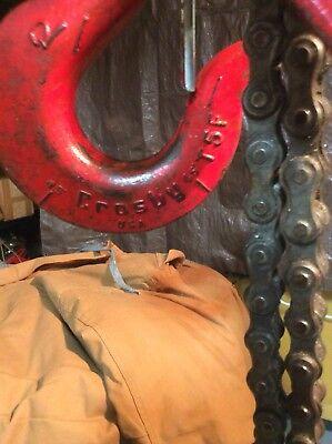 Crosby T5f 4.5-6 Ton Chain Hoist Vintage Very Nice Handle Shortened