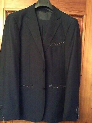 Dunkelblaue Italienischer Anzug (Italienischer Herrenanzug, Neu, dunkelblau, Gr.50/52)