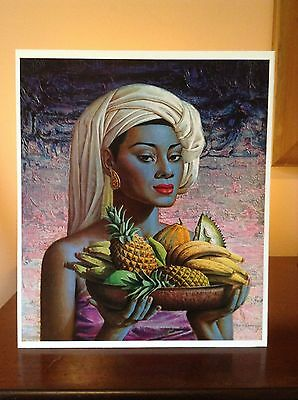ORIGINAL RARE Tretchikoff Fruits Of Bali 1960s - Vintage Kitsch Art Print