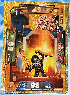LEGO NEXO KNIGHTS Trading Card CLAY with the Fortrex LE7 new