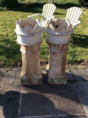 Vintage ,old Crown Chimney Pots X 2
