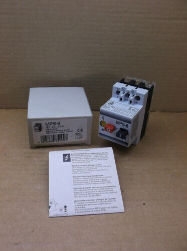 MPS-6 Klockner Moeller Eaton NEW In Box 4.0-6.0A Manual Motor Starter MPS6