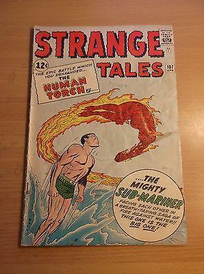 MARVEL: STRANGE TALES #107, 1ST CROSSOVER, TORCH VS SUBBY, 1963, VG+ (4.5)!!!
