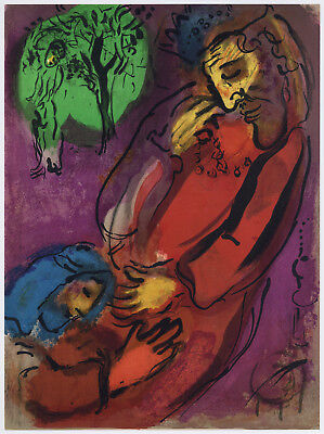 "Marc Chagall ""David and Absalom"" Bible lithograph"