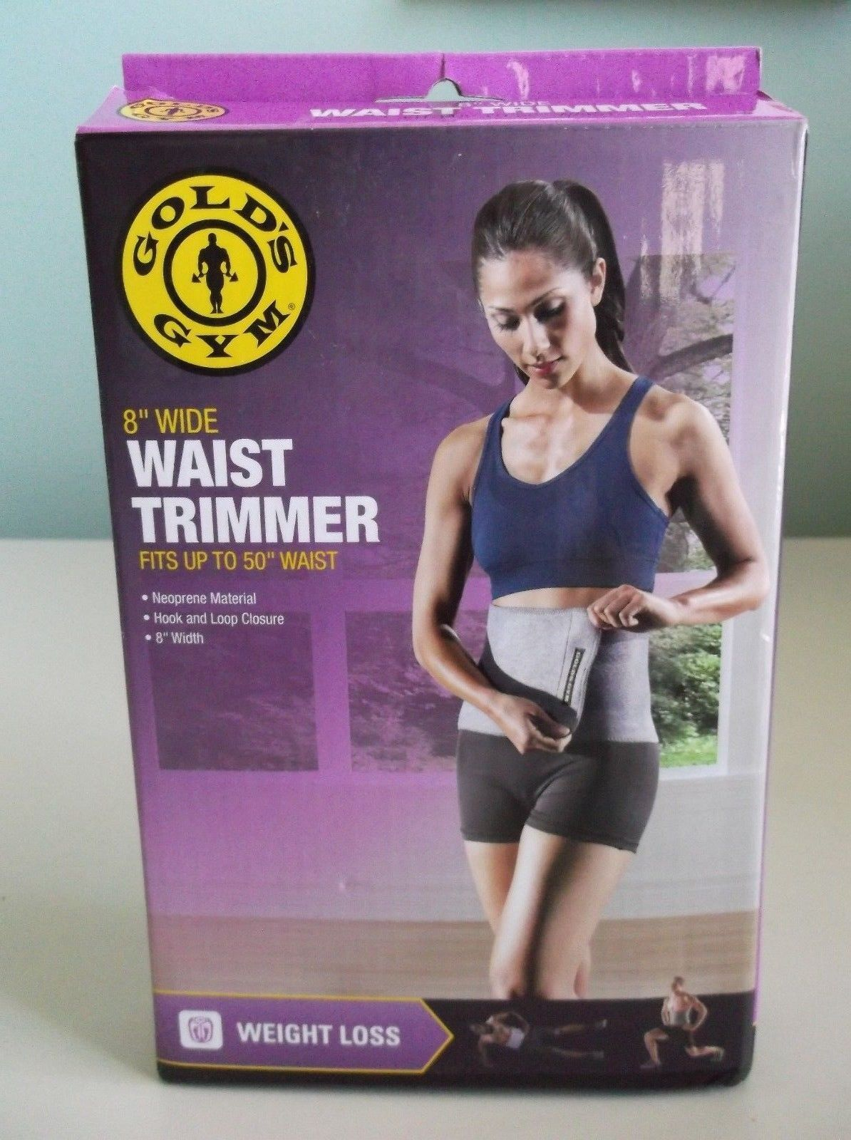 626b7a1ca9 Golds Gym Waist Trimmer Belt - Adjustable Size Fits Up To 50-Inch ...