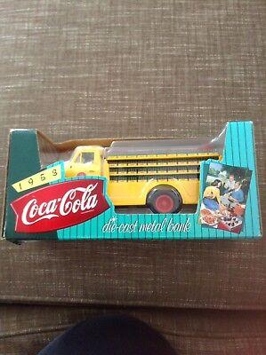 Coca Cola Die Cast Metal Bank Ford Truck 1995 Copyright Unused