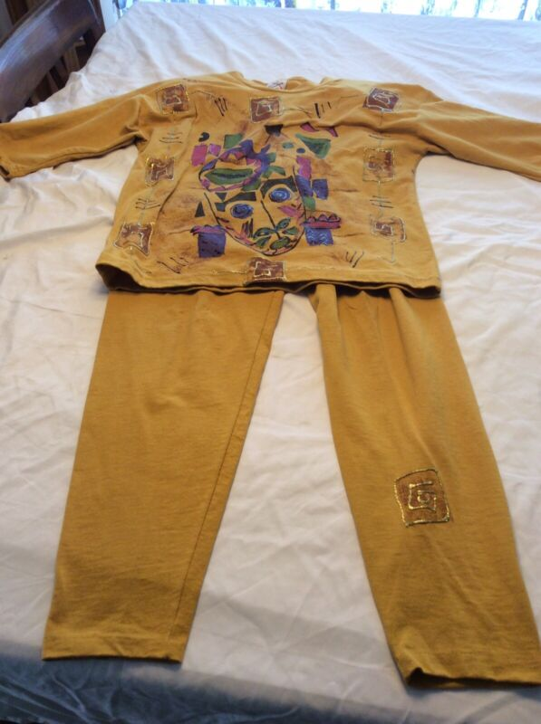 Vintage Sweet Blondie Size S Two Piece 1980s Outfit Pants And Top Artsy