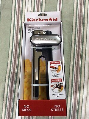 New KitchenAid Can Opener w/ Magnet and Bottle Opener Black