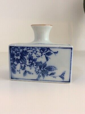 Lucky Bamboo Vase Blue & White Ming Style