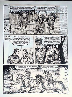 Planche originale Enquète à golden River 16 1976 Bob dan Robert Dansler