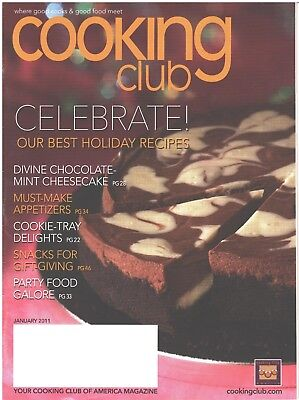 COOKING CLUB Magazine January 2011 Best Holiday Recipes Party Food Galore