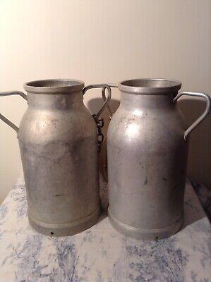 Pair of Vintage French Milk Churns (3713)
