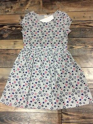 Gymboree Mix N Match Girls knit Hearts Stars Gray dress size NWT L 10 12](Dresses Size 10 12)