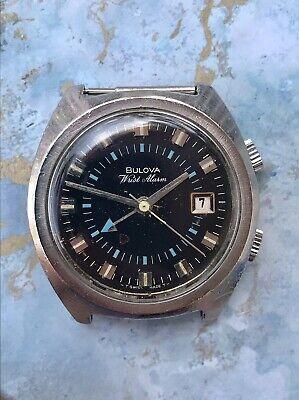 Bulova Wrist Alarm Stainless Steel Vintage Watch