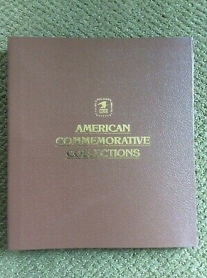 USPS AMERICAN COMMEMORATIVE COLLECTIONS STAMP BINDER W/ 12 PAGES.
