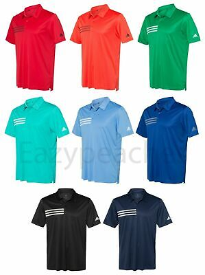ADIDAS Mens 3 Stripes Chest DRI FIT GOLF Polo Sport Shirts Size S-4XL A324