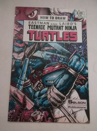 SOLSON PUB: HOW TO DRAW TEENAGE MUTANT NINJA TURTLES #1, MFG ERROR VERSION, 1986