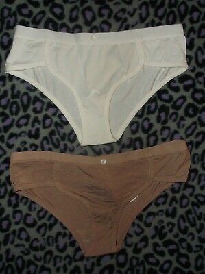 Button Front Hipster (Forever 21 button front modal hipster panties S M ivory or cocoa)