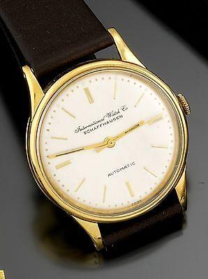 18K Yellow Gold IWC Watch 21 Jewel Automatic CA1960s