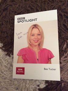 BEE TUCKER (BBC SPOTLIGHT NEWS) SIGNED CAST CARD