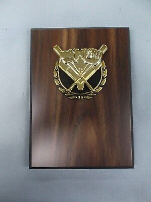 BASEBALL THEME snap gold and black relief walnut finish plaque trophy 5x7 (Gold And Black Theme)