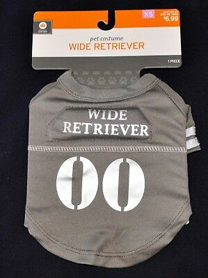 """Cute """"Wide Retriever 00"""" Jersey Costume Dog Shirt XS Extra Small NEW Game Day!"""