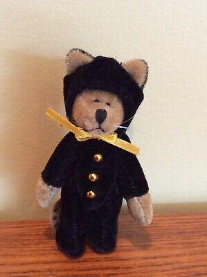 """BOYDS BEARS T.F. Wuzzies - 3.25"""", Bear Cat Costume, Original Tag, Mint"""